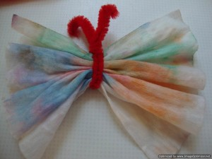 butterfly made using tissues