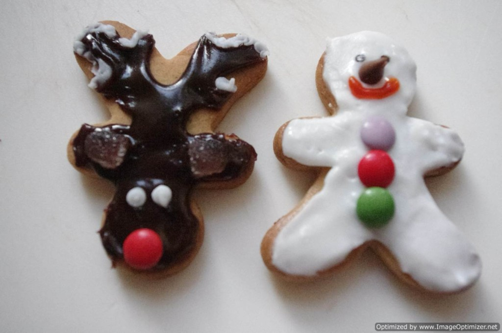 reindeer biscuit and gingerbread man