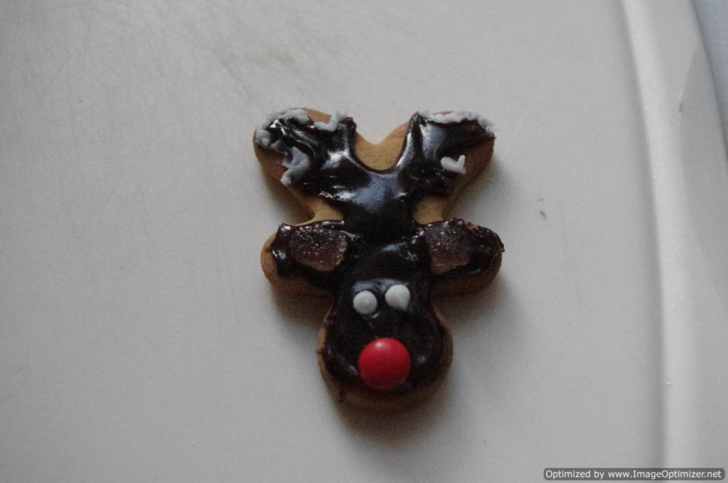 reindeer cookie from gingerbread man cutter