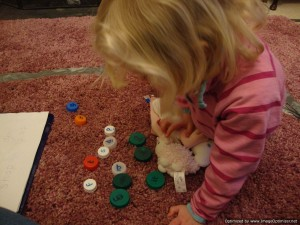 bottle tops to learn sounds