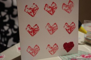 printing hearts for Valentines cards