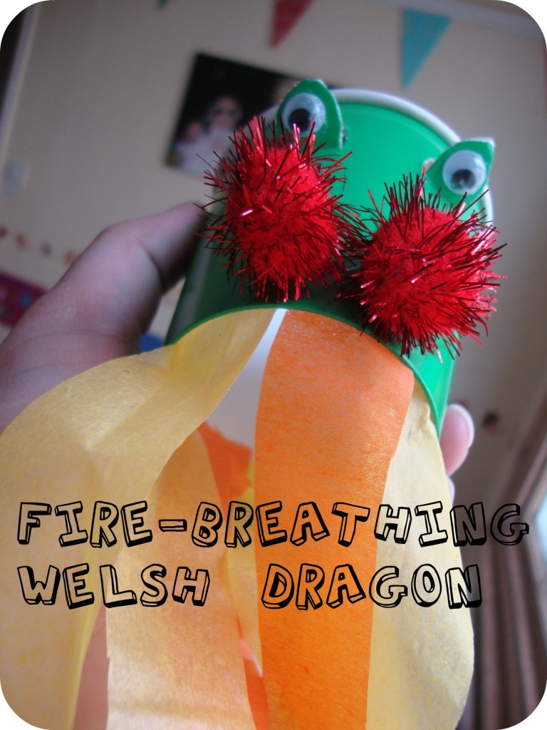 fire breathing Welsh Dragon