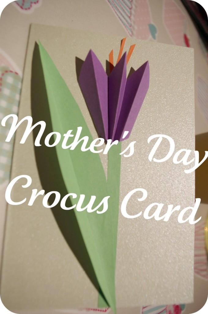 açafrão cartão para o Dia das Mães