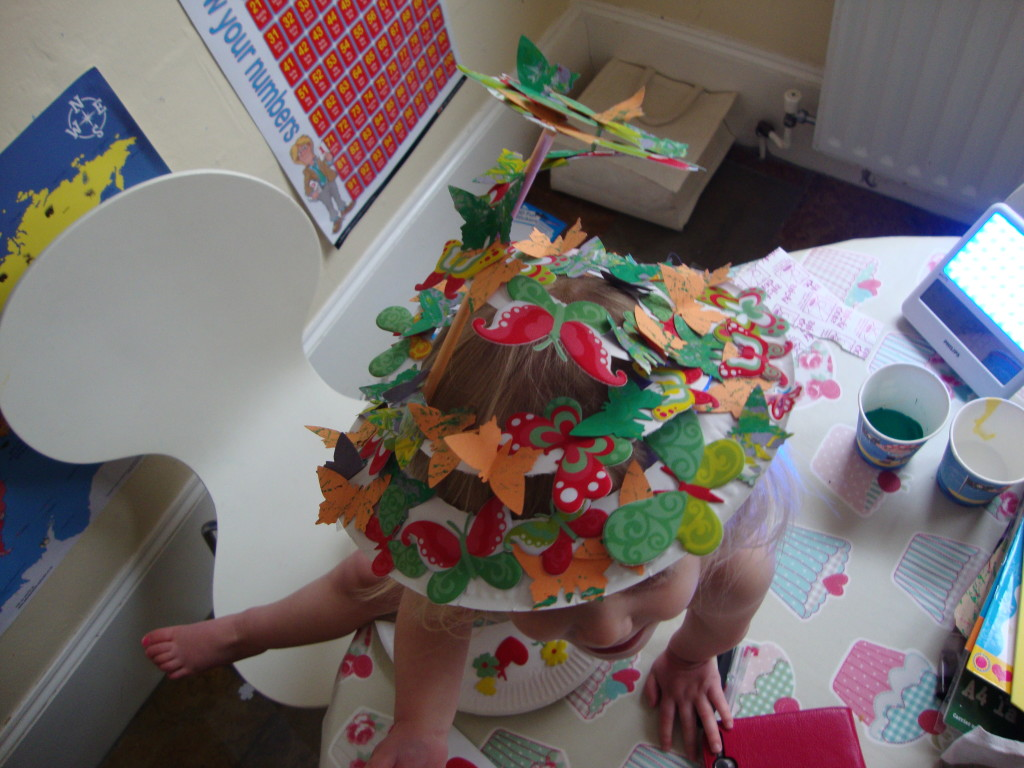 Butterfly Easter Bonnet from Paper Plate