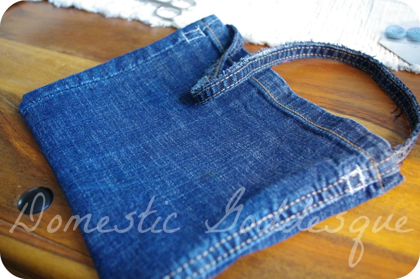 Make A Shoulder Bag From Jeans 12