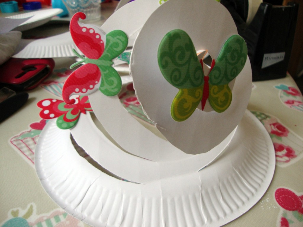 start decorating your spiral Easter Bonnet