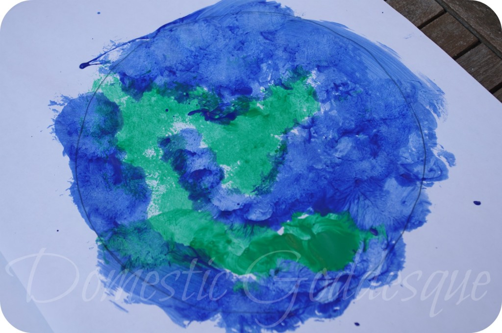 World painting for Earth Day