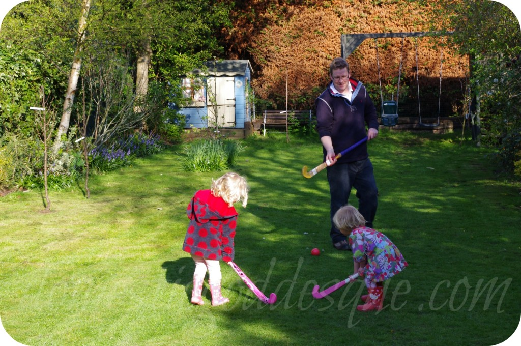 hockey in the garden