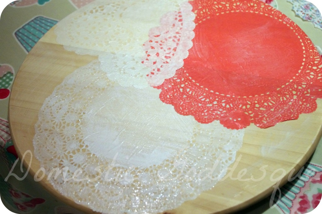 lay out your doilies until you are happy
