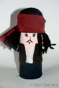 Red Ted Art watermark Johnny Depp toilet roll craft