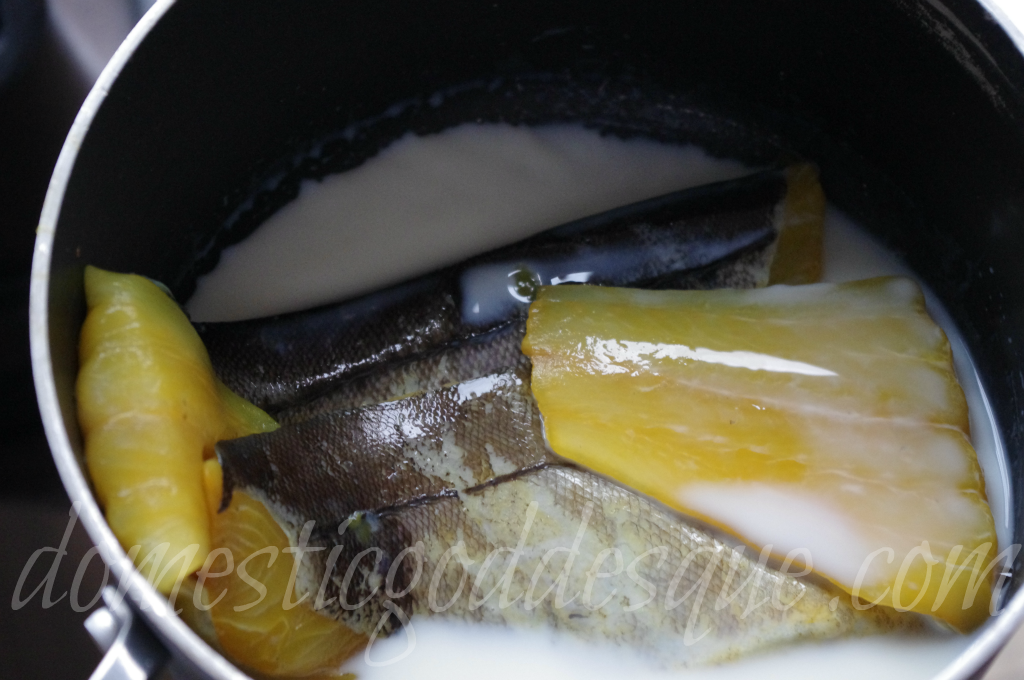 poach the fish in milk
