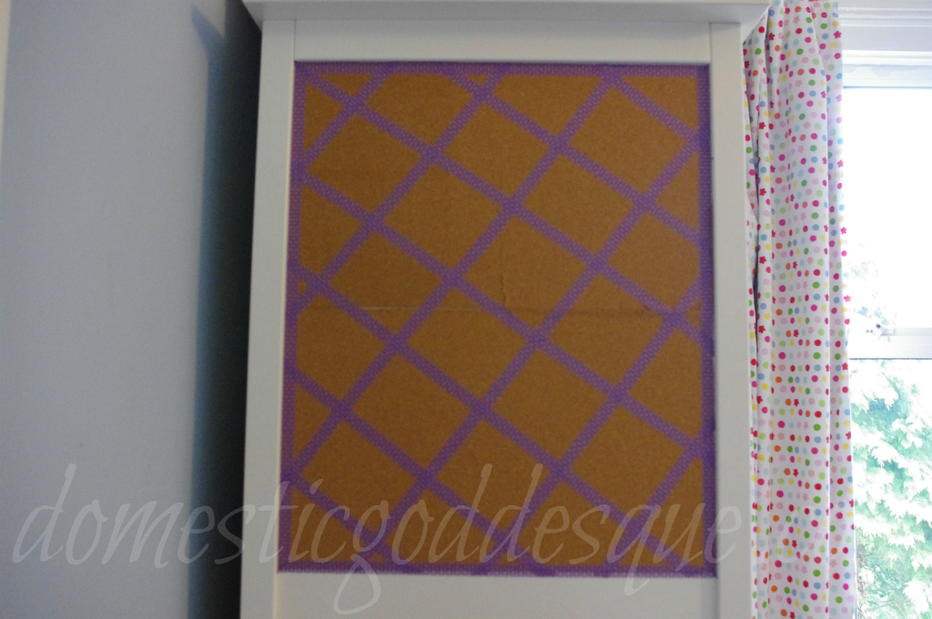 washi tape pinboard how to
