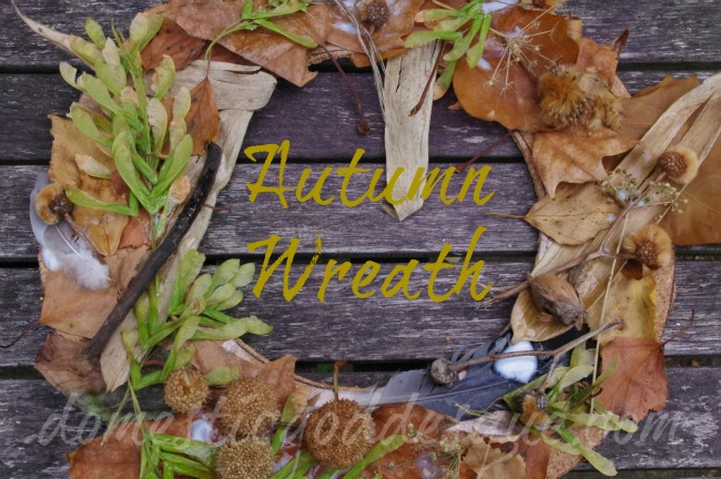 kids autumn material wreath