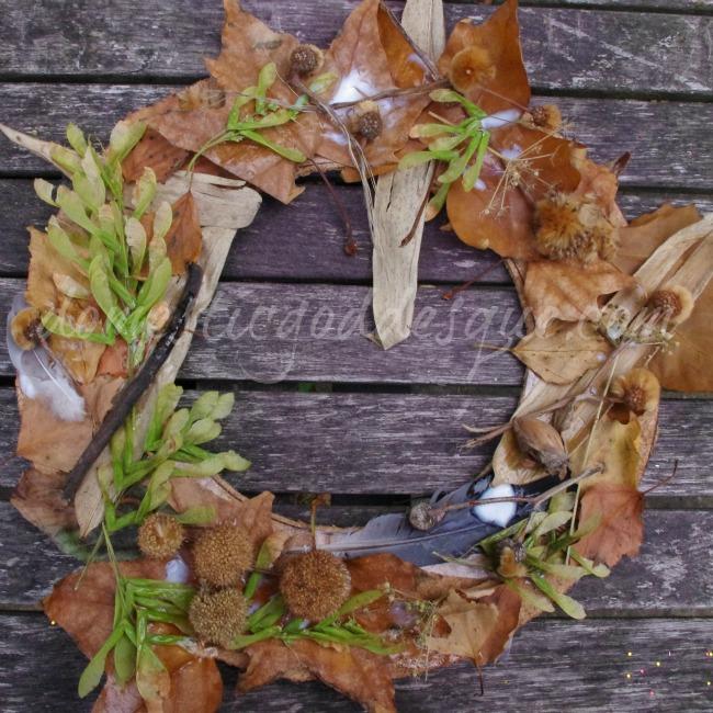 kids autumn wreath