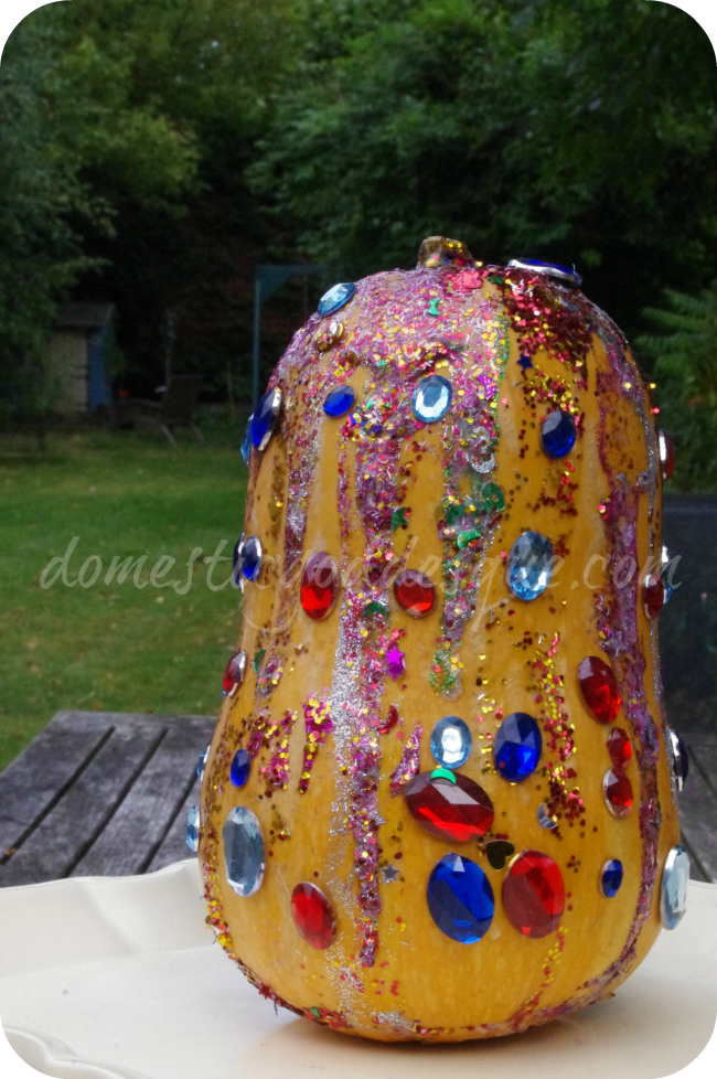 Kid's Glitter Pumpkin