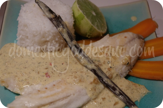 sea bass with vanilla lime sauce