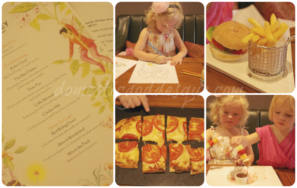 Kensington Hotel Childrens' Menu