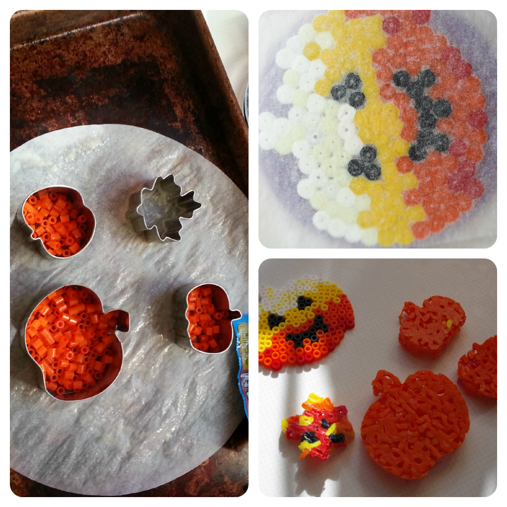 Pumpkin Hama beads
