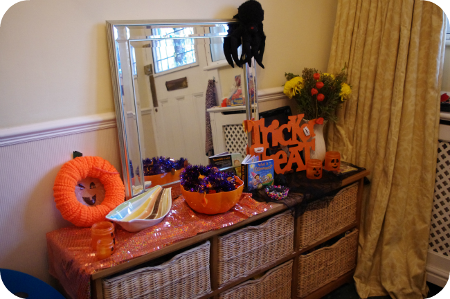 halloween exploration table