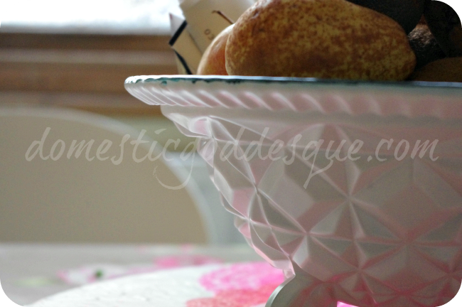 How to give a Cut Glass bowl a new look with Mod Podge and Spray Paint