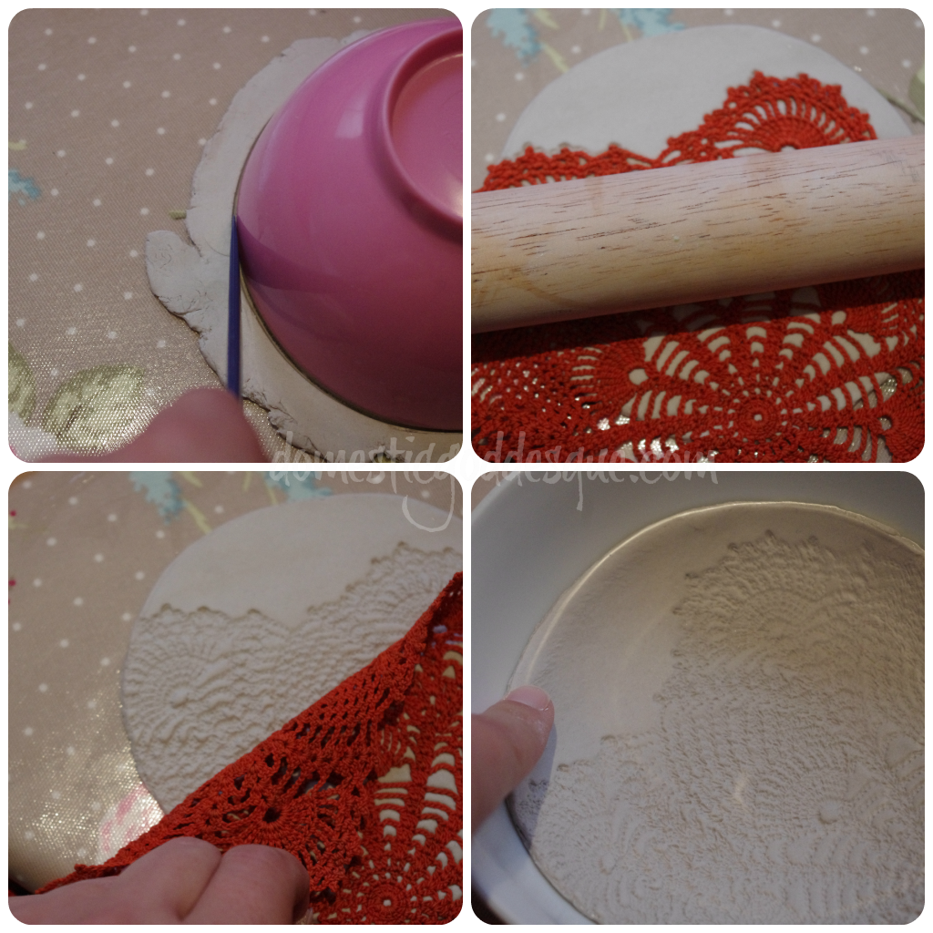 air drying clay ring bowl