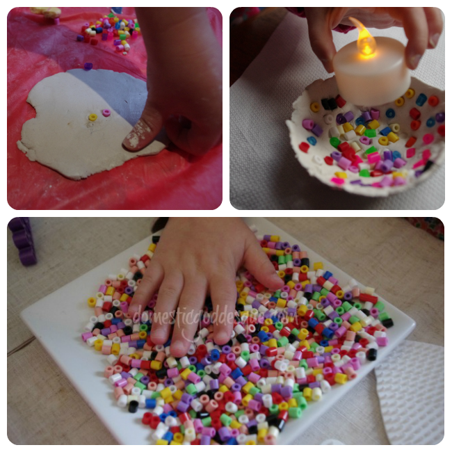 hama bead clay bowl