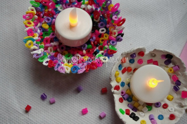 Coloured melting bead Diwas: Diwali craft