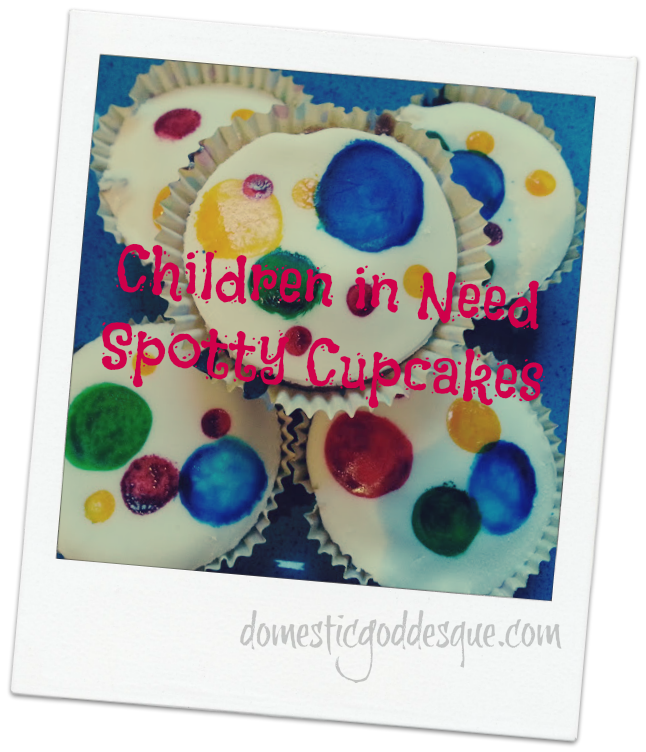 how to make children in need spotty cupcakes
