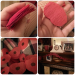 remembrance poppy garland craft
