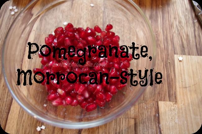 Moroccan style pomegranate