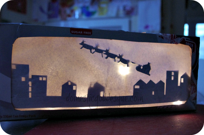 How to make a Christmas Silhouette from a box