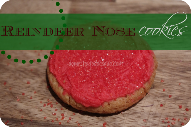 how to make reindeer nose cookies