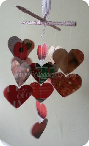 hanging 3-D heart mobile