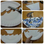 make a rocking yacht from a paper plate