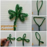 how to make a pipecleaner shamrock