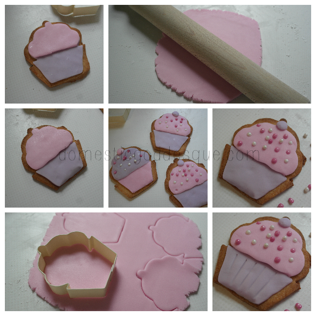 how to ice cupcake biscuits with fondant