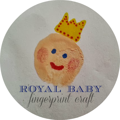 Royal Baby Card Craft: fingerprint babies