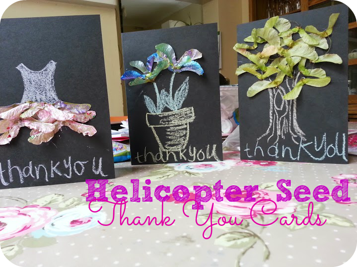 teacher thank you cards from helicopter seeds