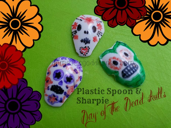 Sharpie spoon day of the dead craft