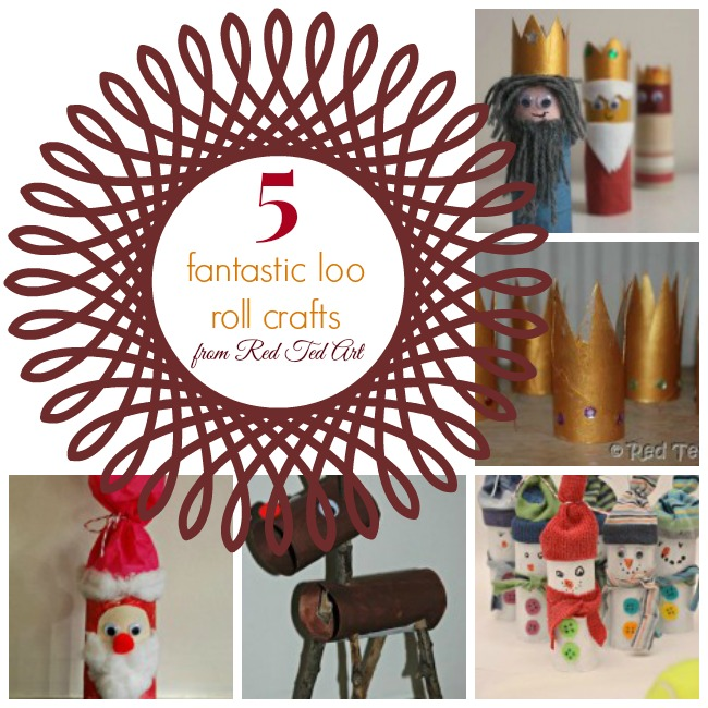 {Guest Post} 5 Fabulous Loo Roll Crafts from Red Ted Art