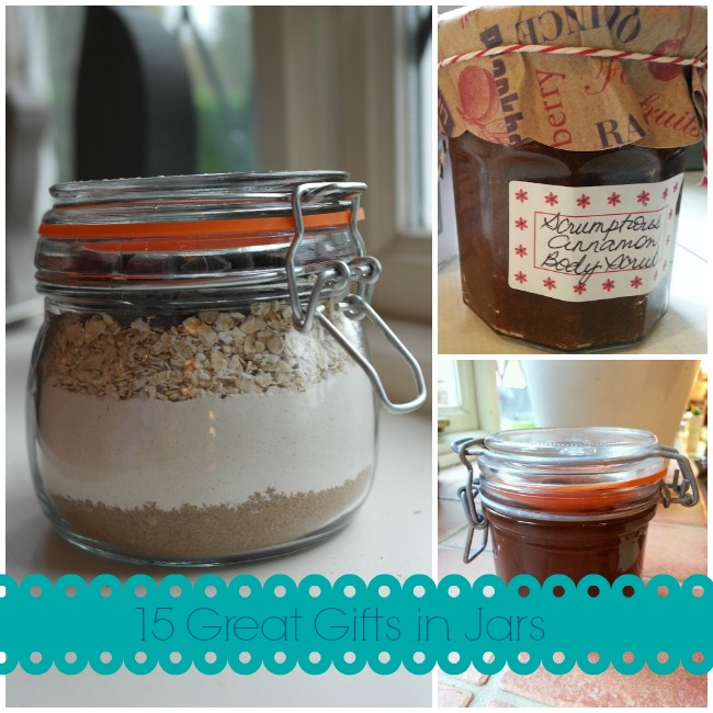 Gifts in Jars: easy homemade gift ideas.