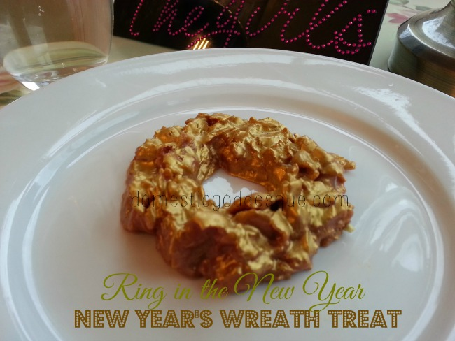 Golden Cornflake Treat to Ring in the New Year