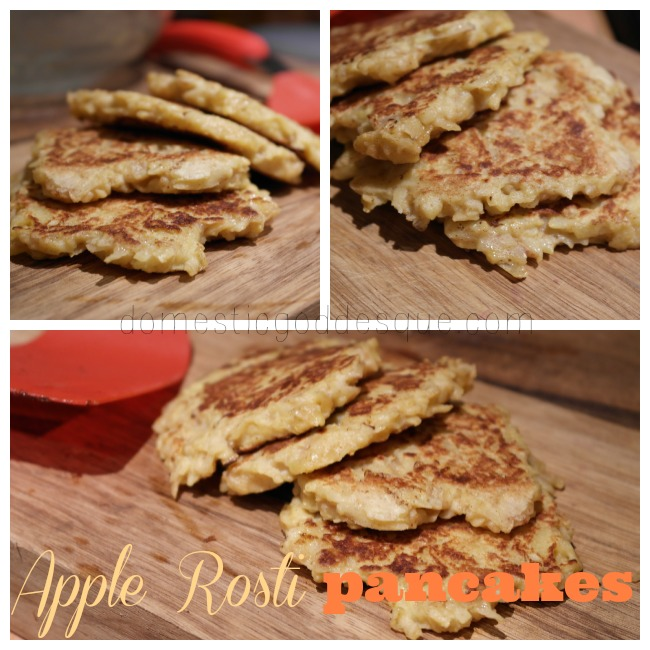 Apple Rosti pancakes