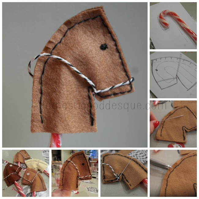 candy cane year of the horse craft