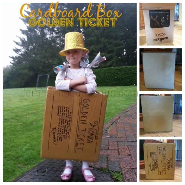 cardboard box golden ticket roald dahl costume