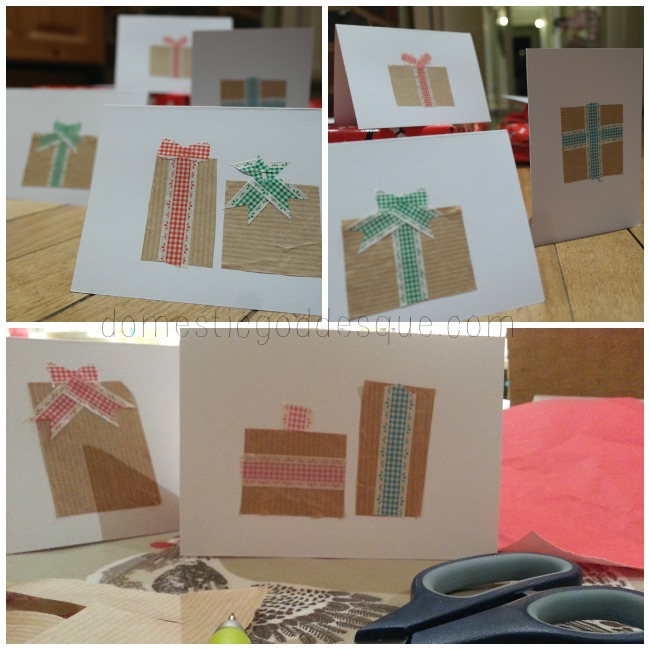 washi tape Christmas thank you cards