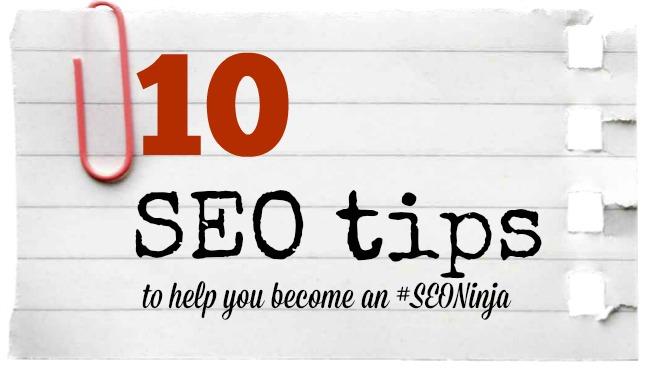 In which I become an SEO ninja: ten SEO tips