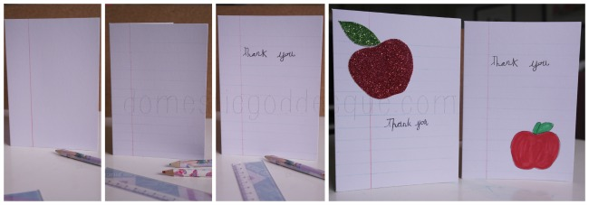 Quick and Easy Thank You Teacher cards