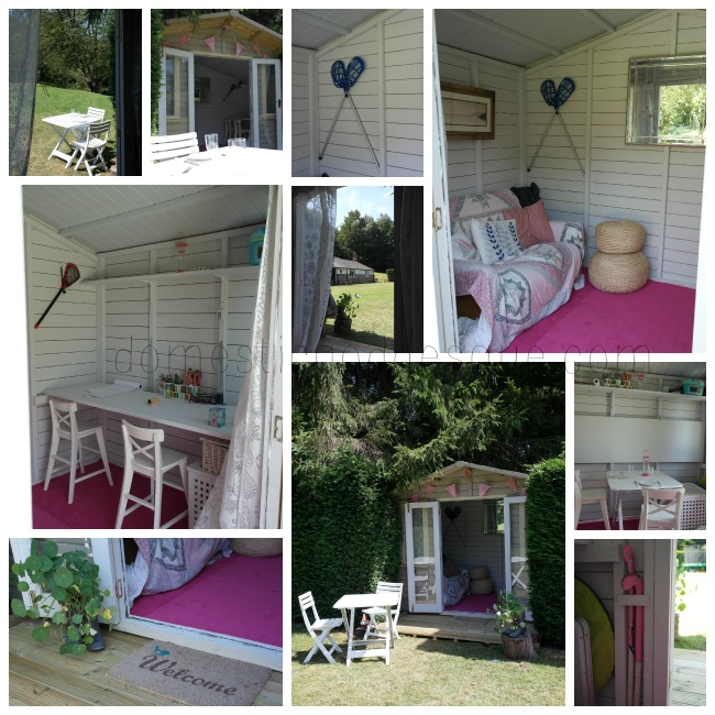 shabby chic summerhouse makeover