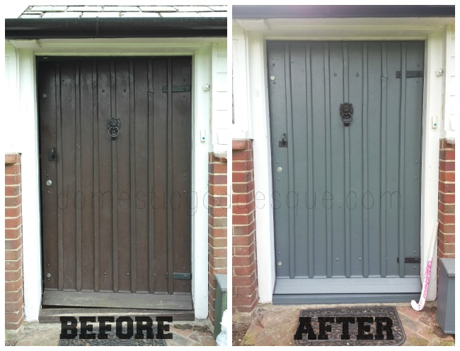 how to paint your door before and after